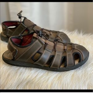 Croft & Barrow brown leather sandals size 10